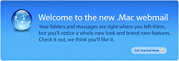 New .Mac Webmail Interface Message - October 2006