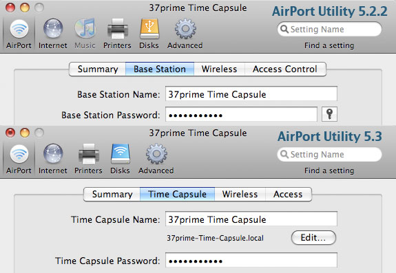 Time Capsule: AirPort Utility | 37prime