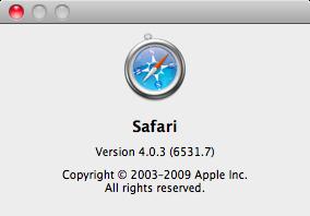 Safari 4.0.3 (6531.7)