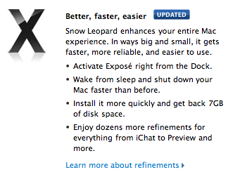Snow Leopard Refinements
