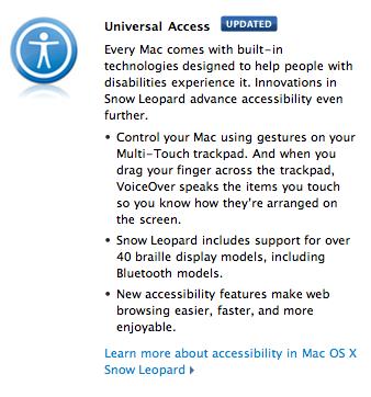 Snow Leopard Universal Access