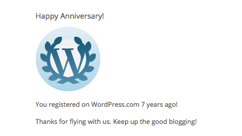 Seven Years with WordPress.com